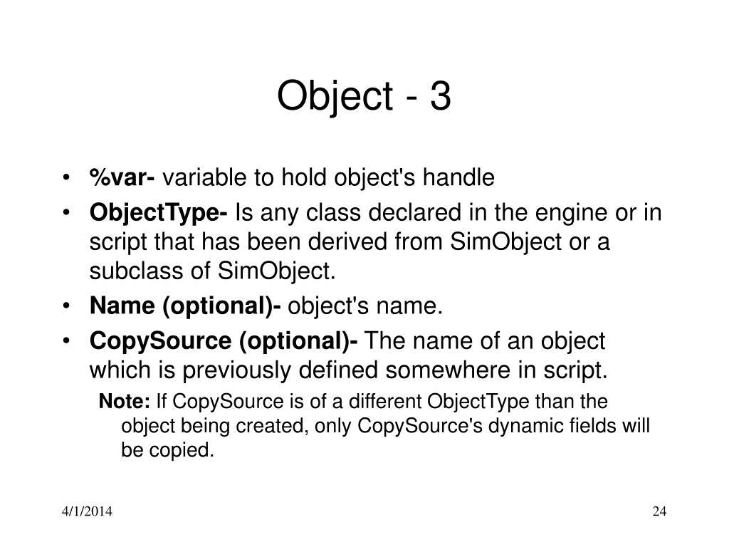 Object - 3
