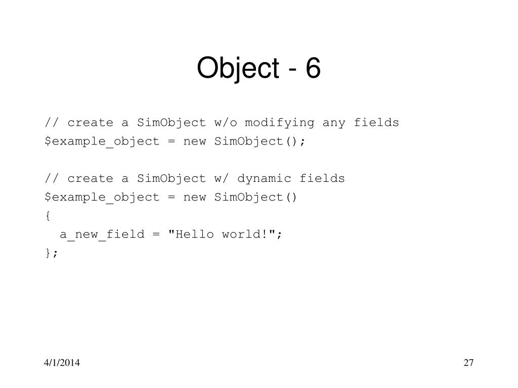 Object - 6