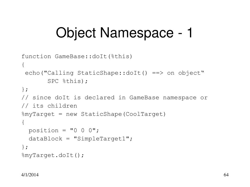 Object Namespace - 1