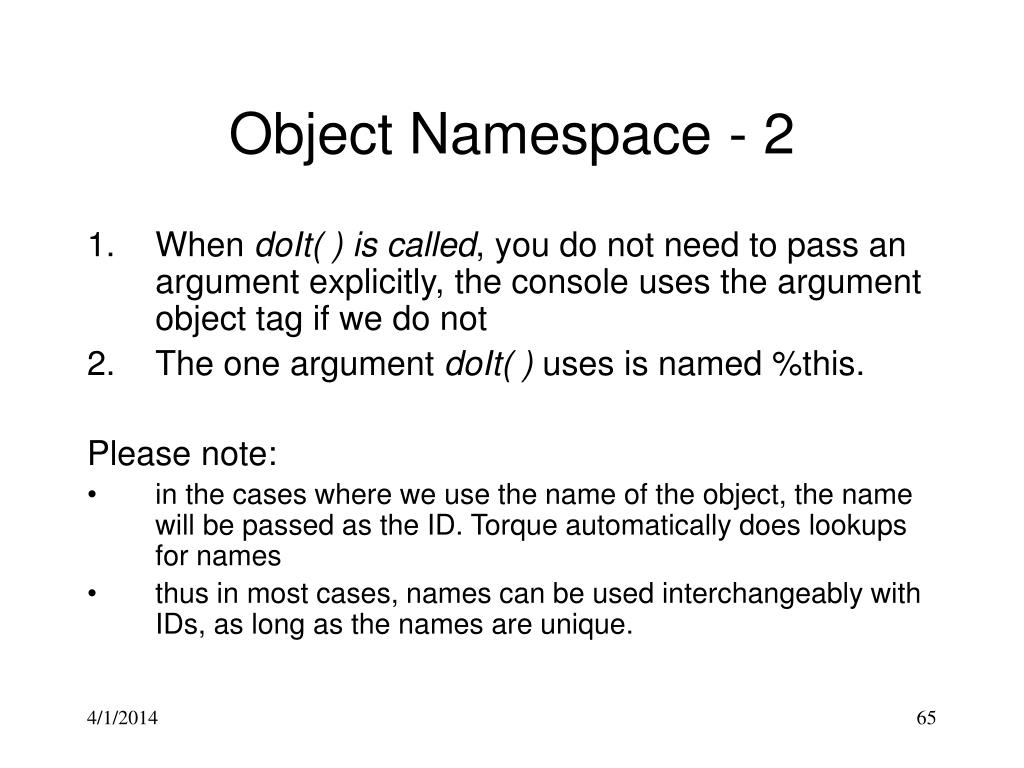 Object Namespace - 2