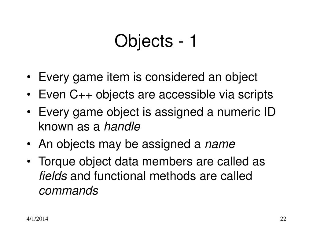 Objects - 1