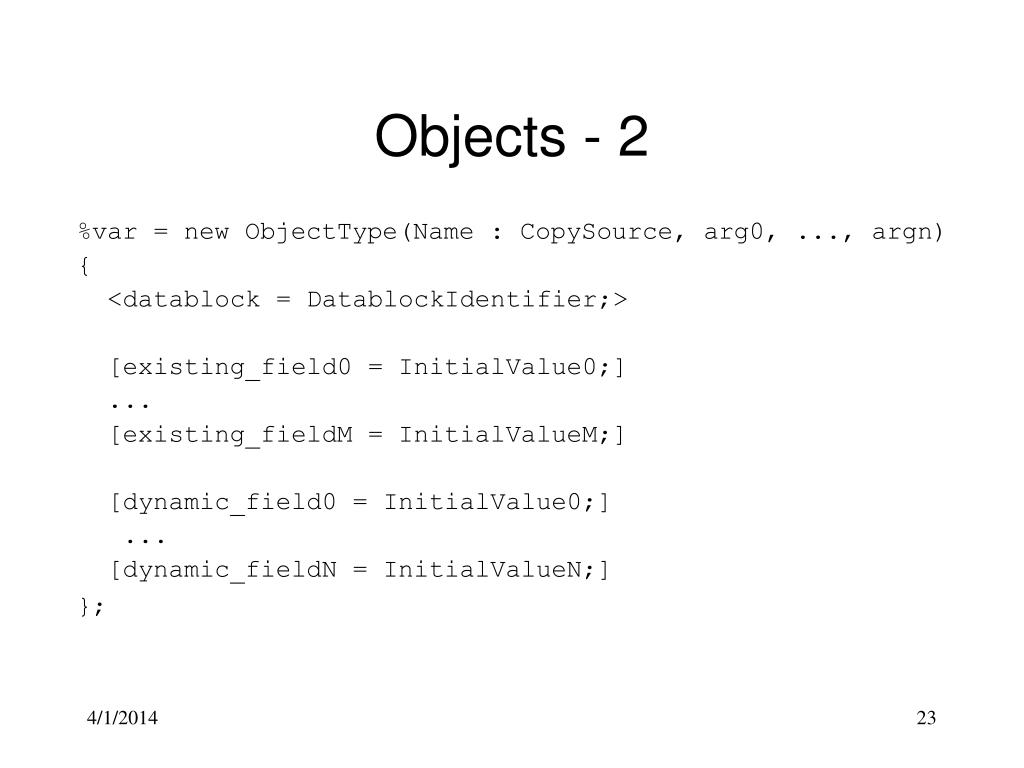 Objects - 2
