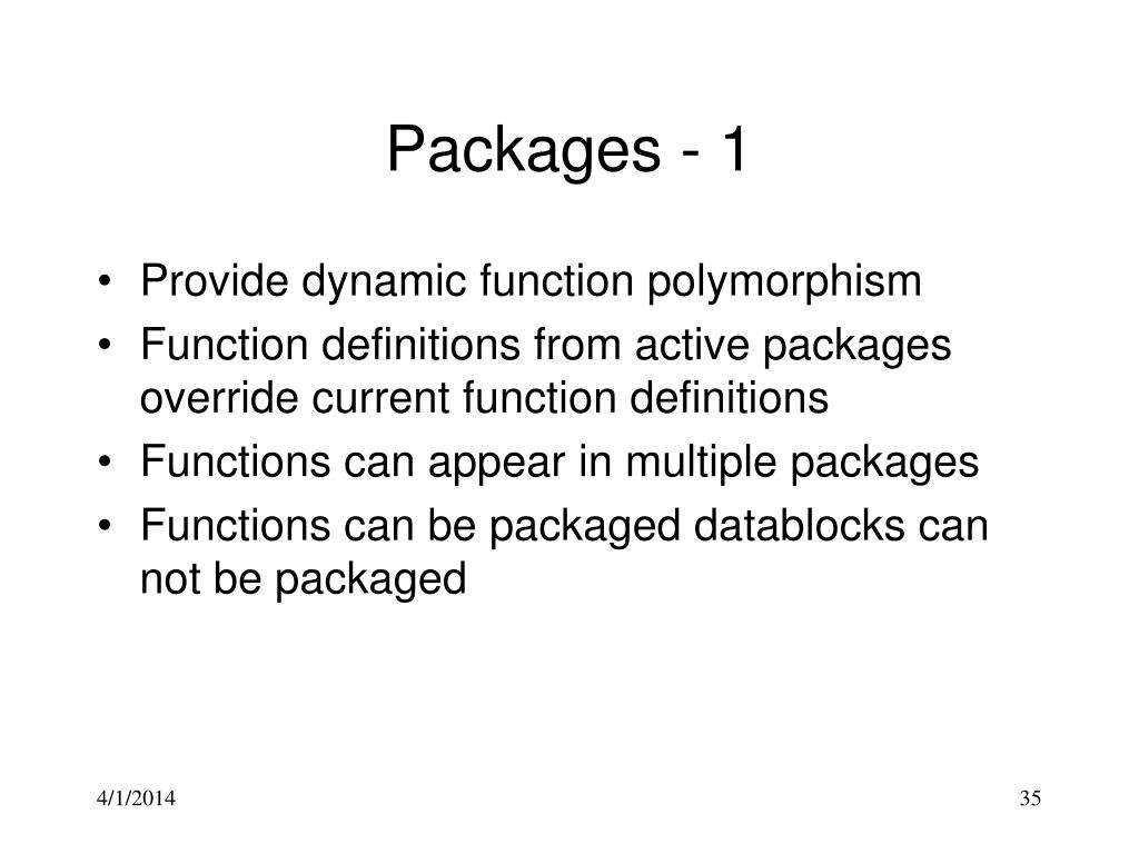 Packages - 1