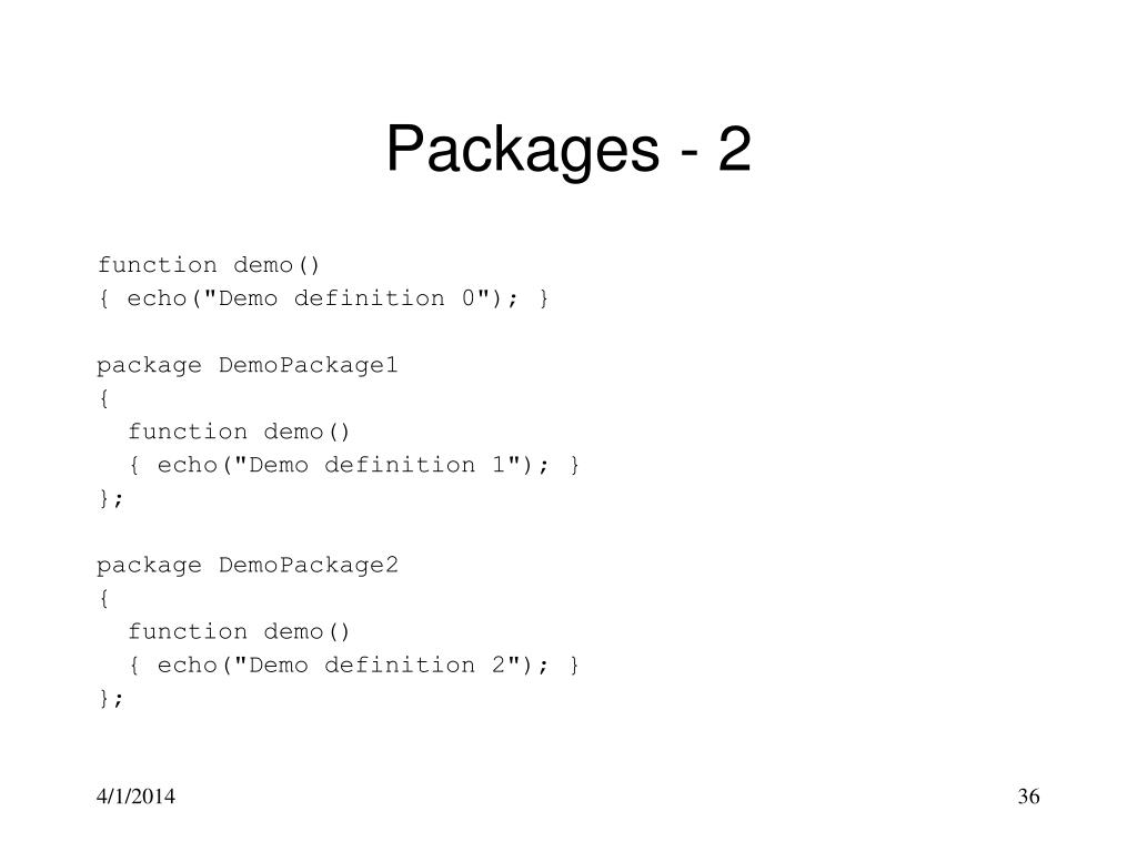 Packages - 2