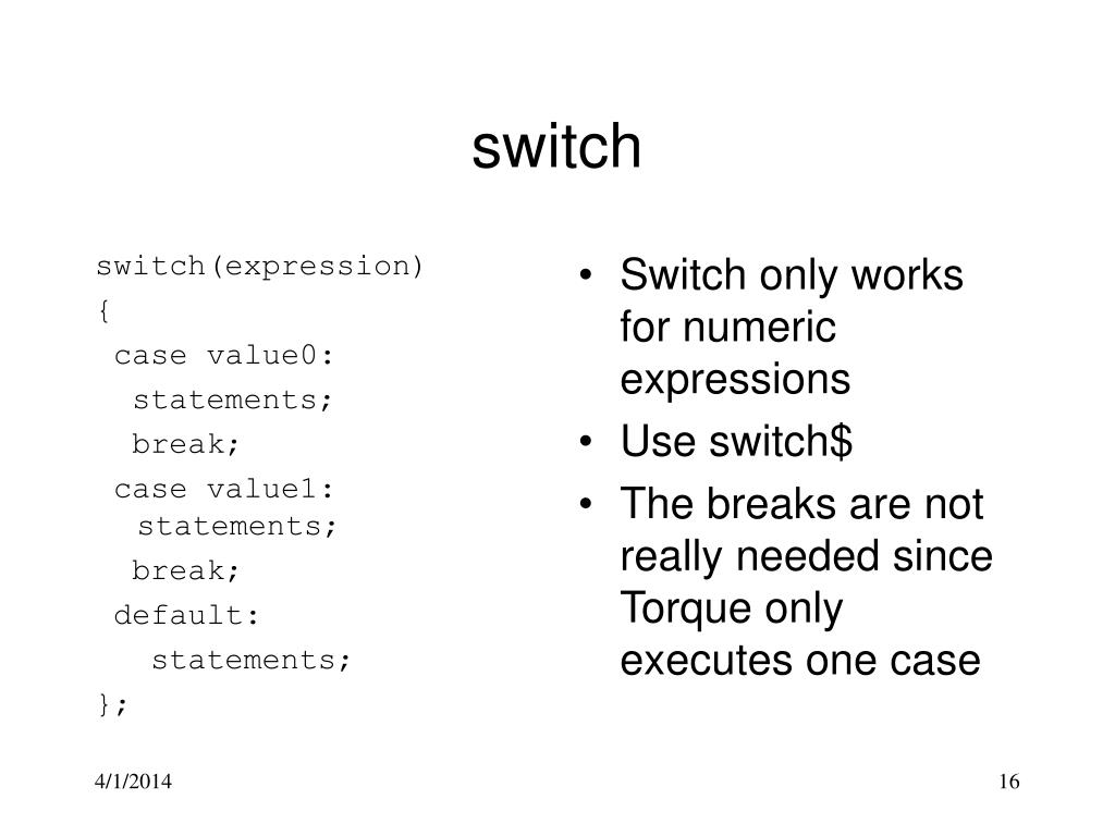 switch(expression)