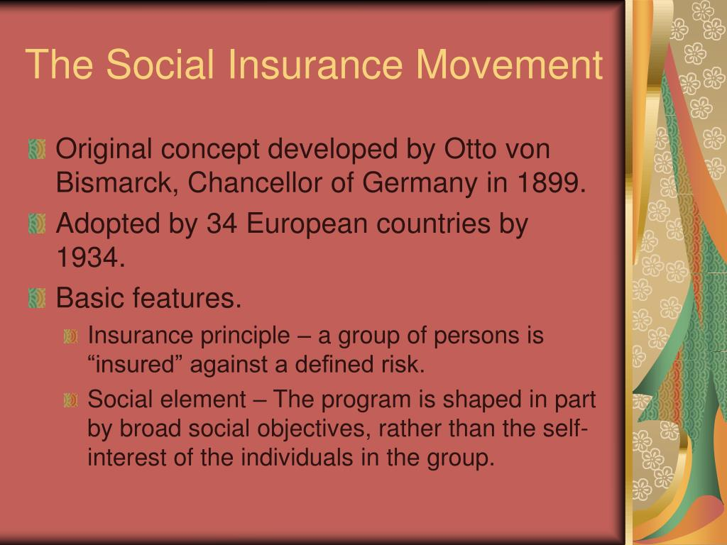 The Social Insurance Movement