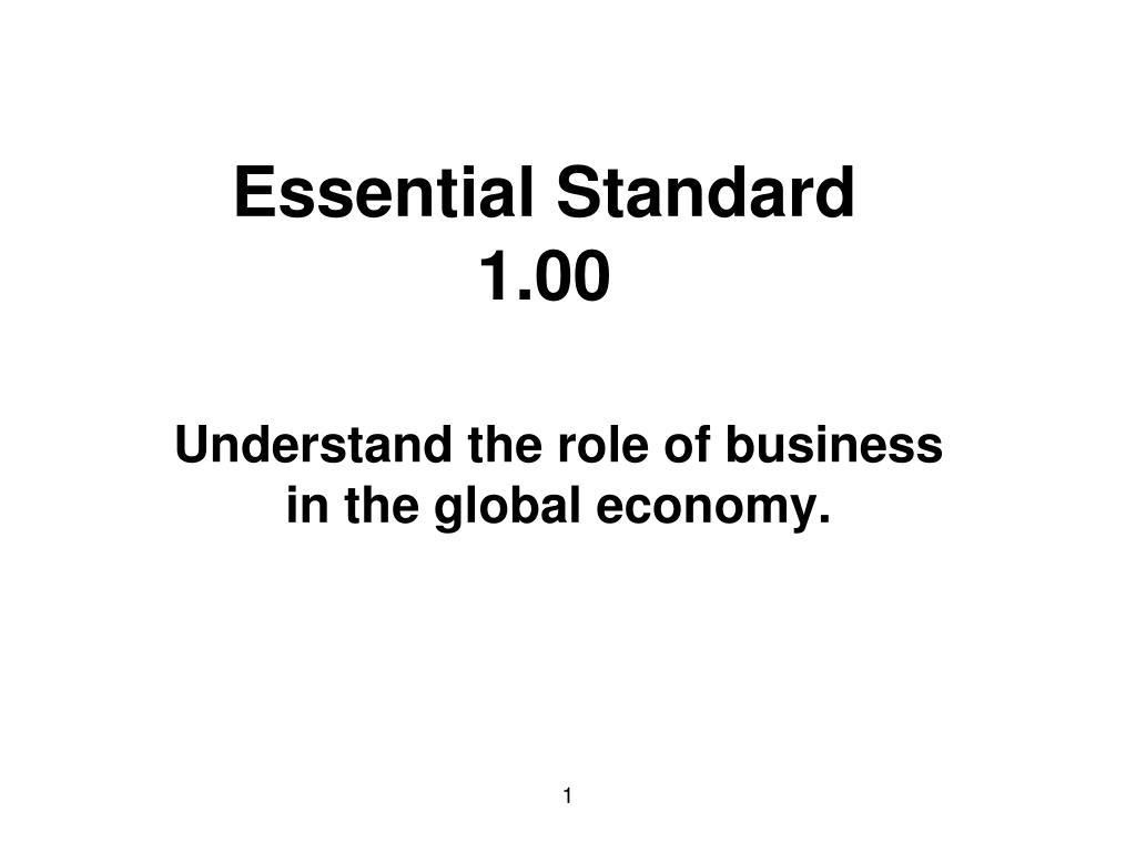 essential standard 1 00