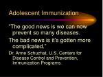 adolescent immunization