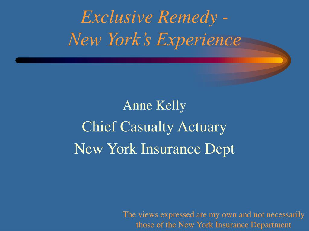 anne kelly chief casualty actuary new york insurance dept