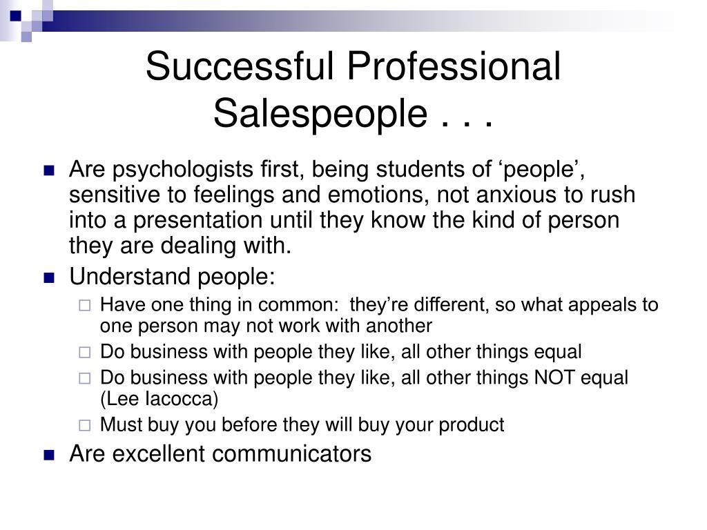 successful professional salespeople