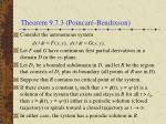 theorem 9 7 3 poincar bendixson