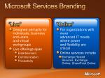 microsoft services branding