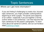 topic sentences10