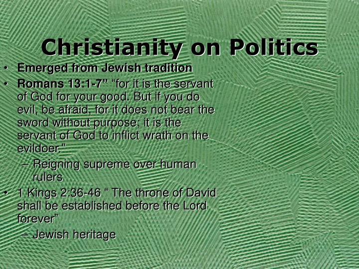 Christianity on Politics
