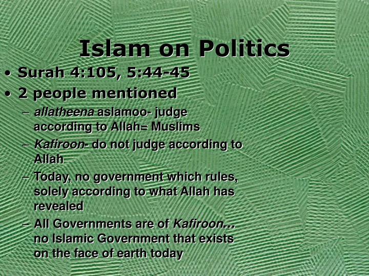 Islam on Politics