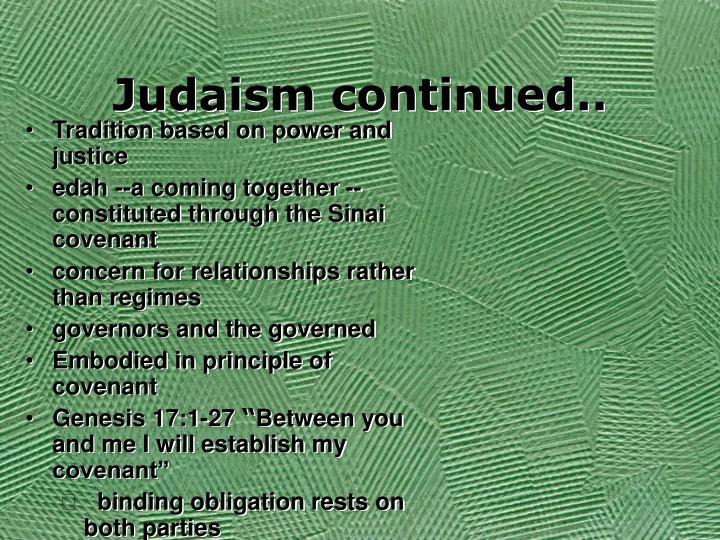 Judaism continued..