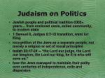 judaism on politics