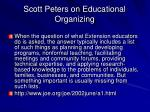 scott peters on educational organizing