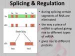 splicing regulation24