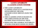 land capability classification system