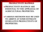 productivity ratings