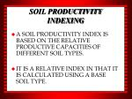 soil productivity indexing