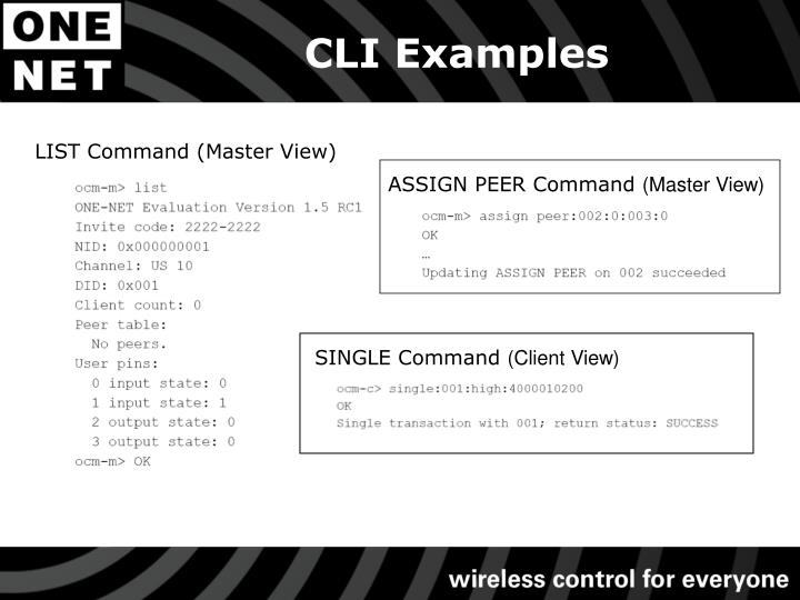 CLI Examples