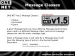 message classes