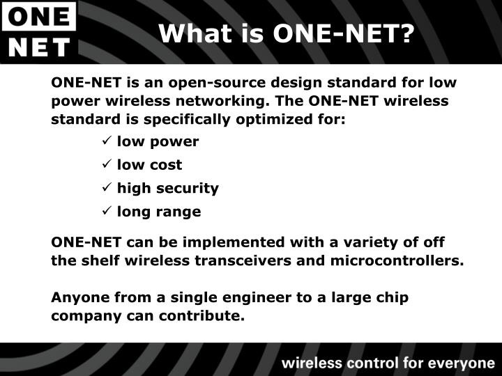 What is ONE-NET?
