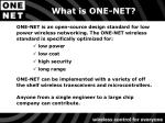 what is one net