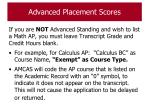 advanced placement scores66