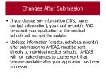 changes after submission121