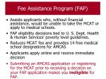 fee assistance program fap