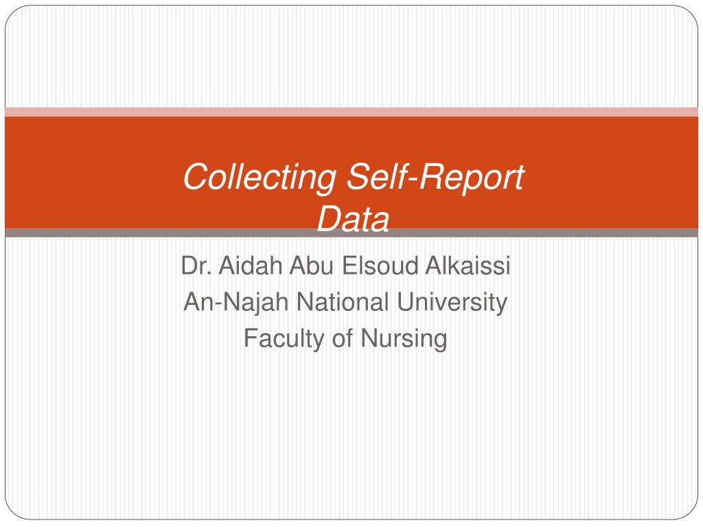collecting self report data