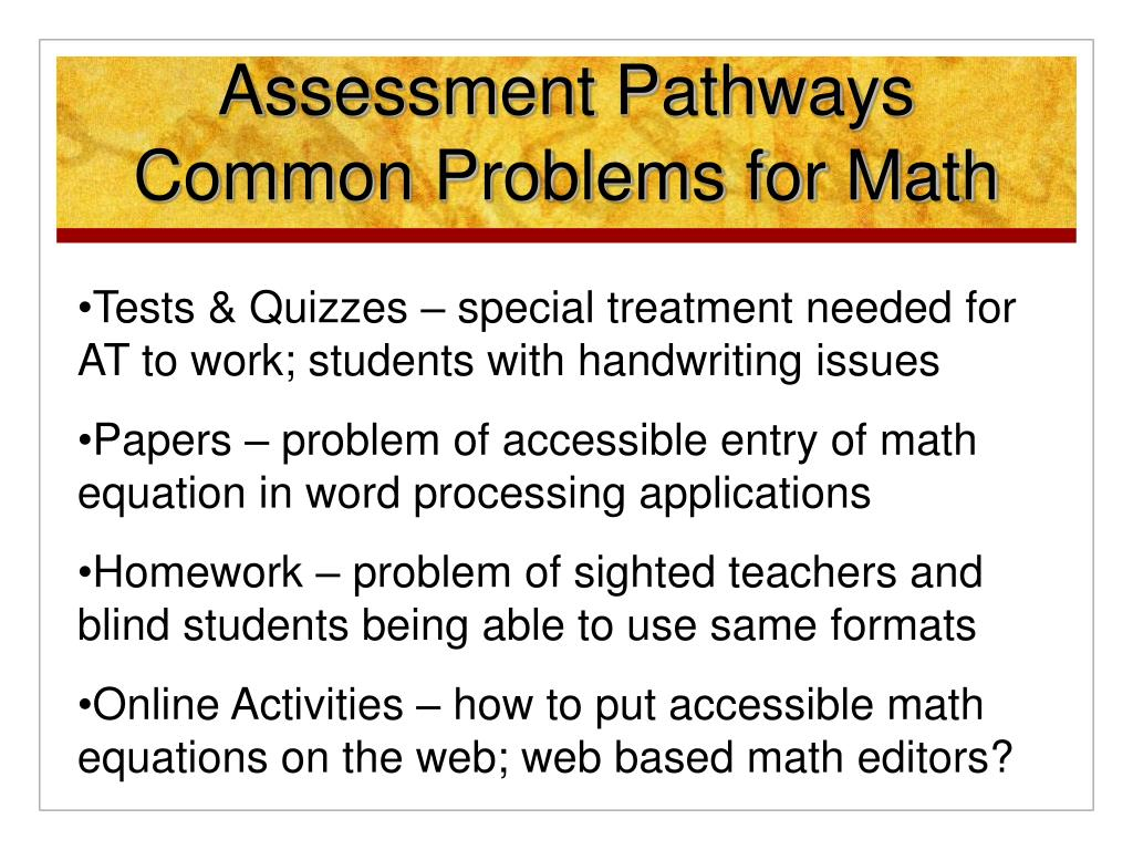 Assessment Pathways