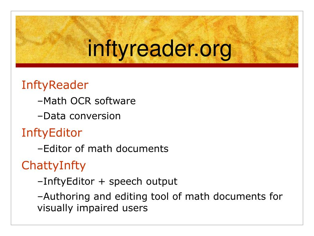 inftyreader.org