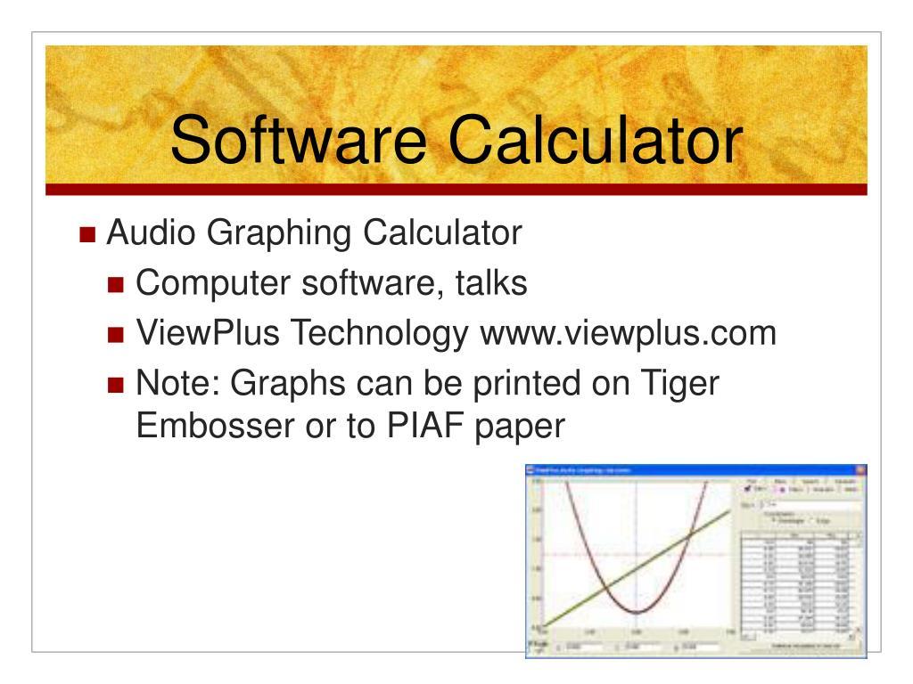 Software Calculator
