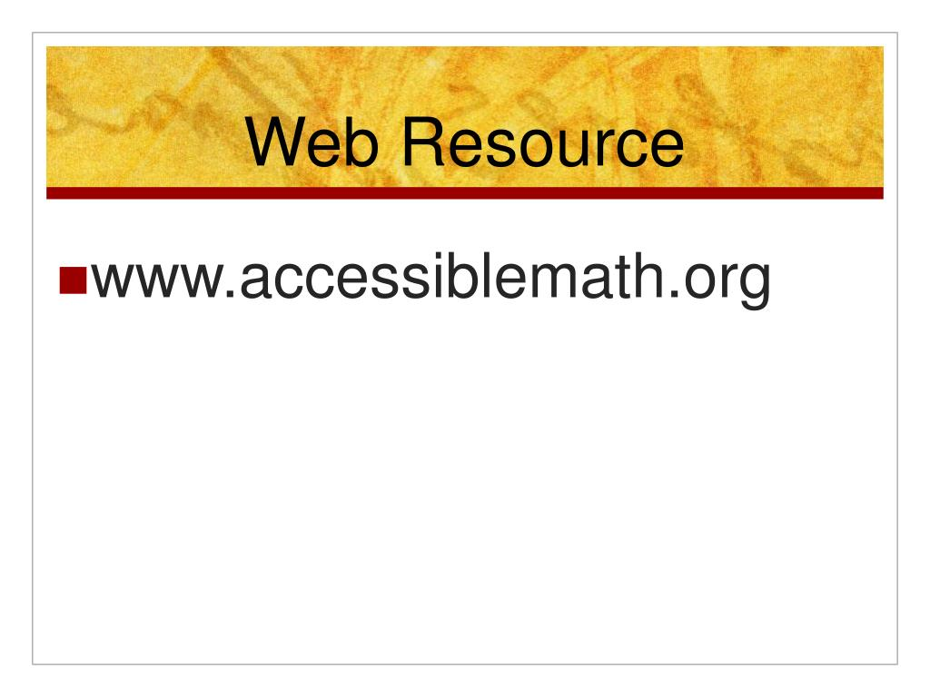 Web Resource