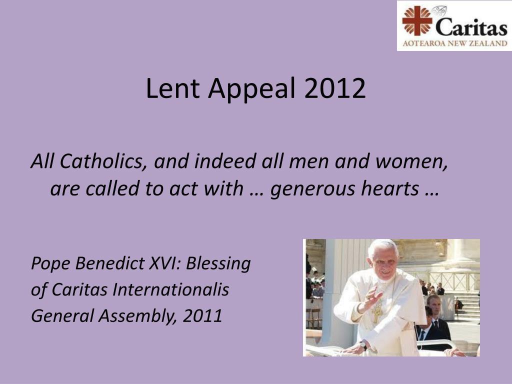 Lent Appeal 2012