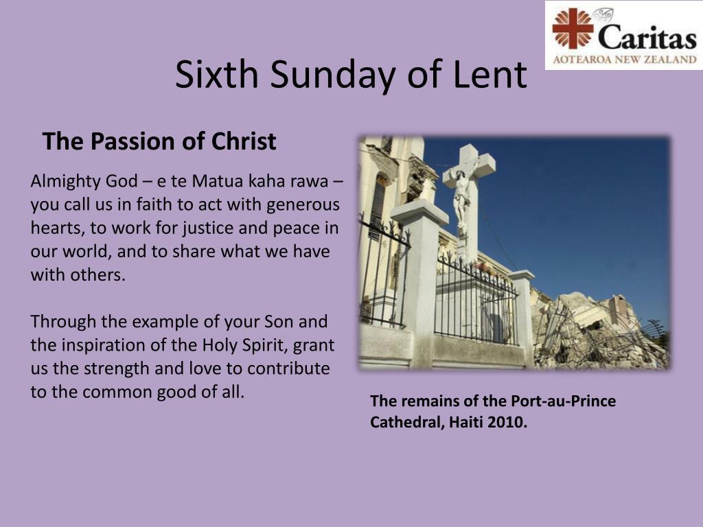 Sixth Sunday of Lent