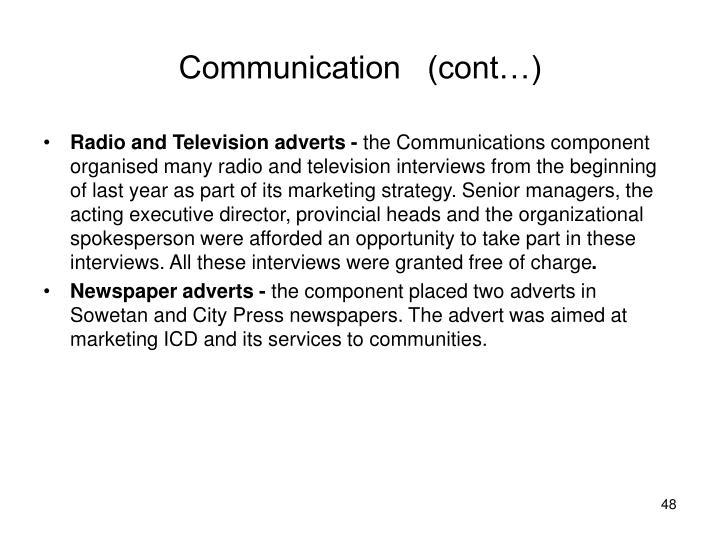 Communication   (cont…)