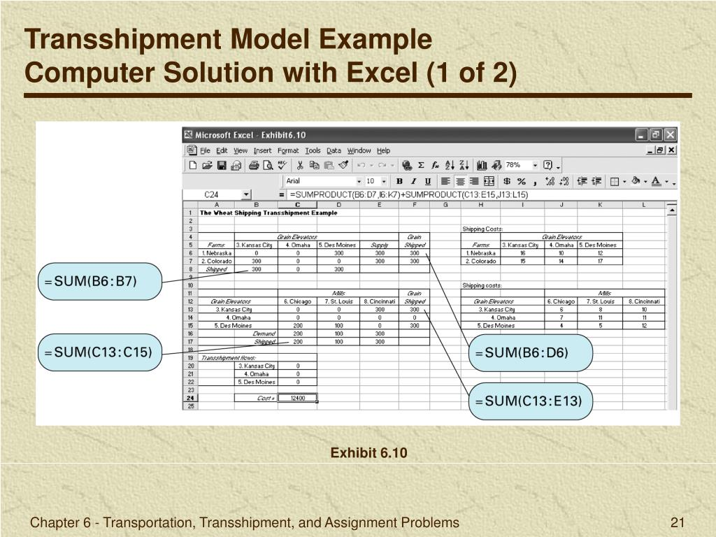 transportation transshipment and assignment problems Introduction to management science 8th edition by bernard w taylor iii chapter 6 transportation, transshipment, and assignment problems chapter topics chapter 6 - transportation, transshipment, and assignment problems chapter topics example problem solution computer solution with excel the.