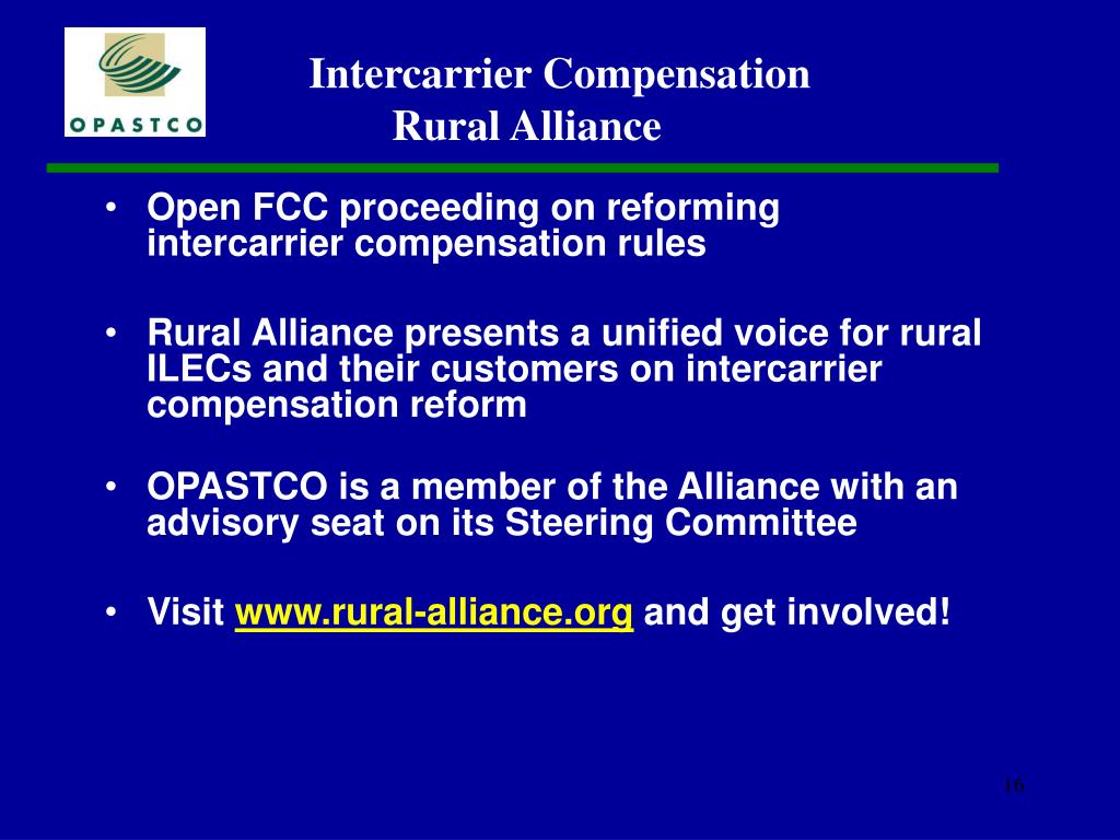 Open FCC proceeding on reforming intercarrier compensation rules