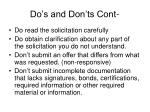 do s and don ts cont