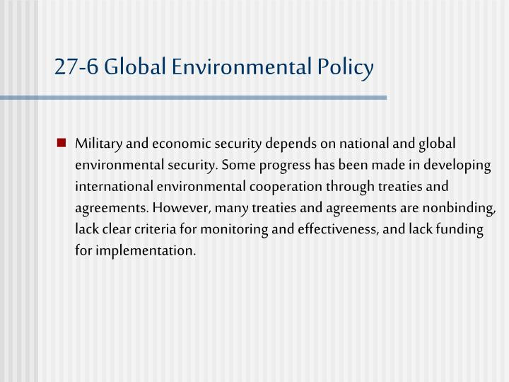 27-6 Global Environmental Policy