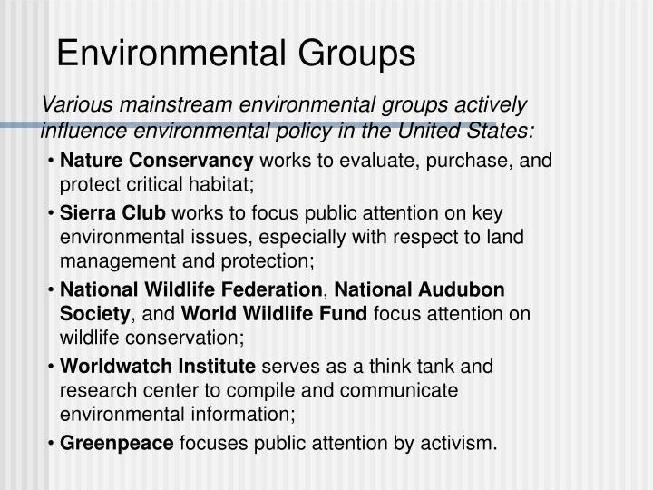 Environmental Groups