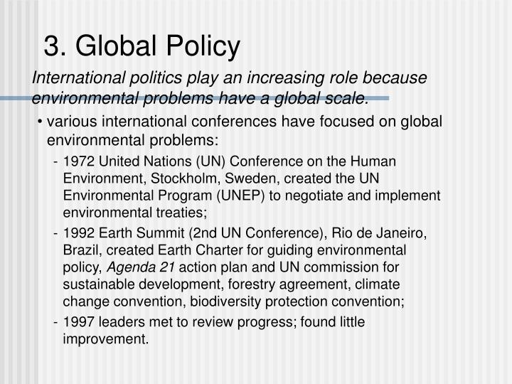 3. Global Policy