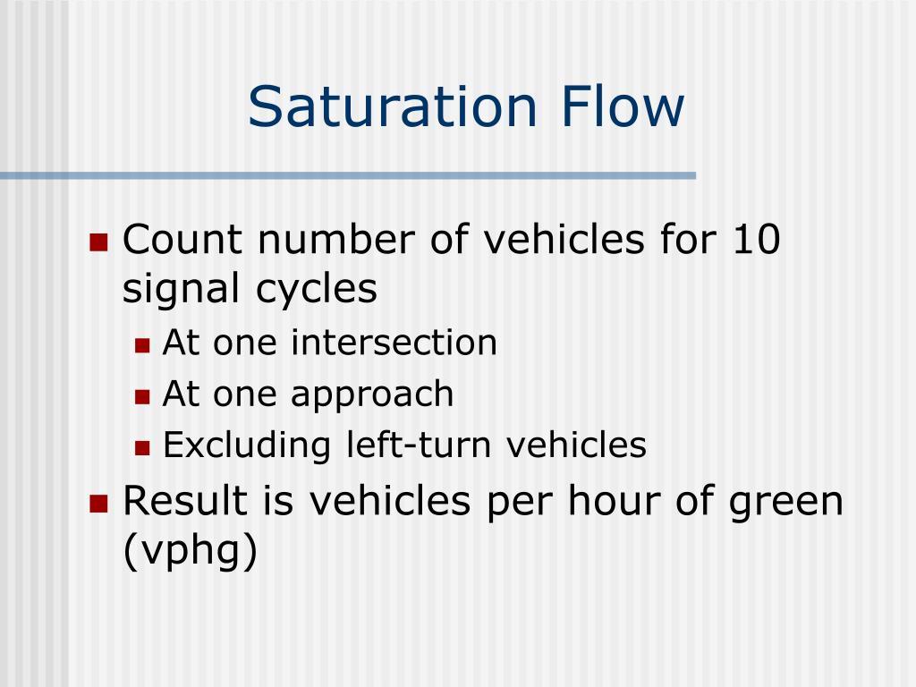Saturation Flow