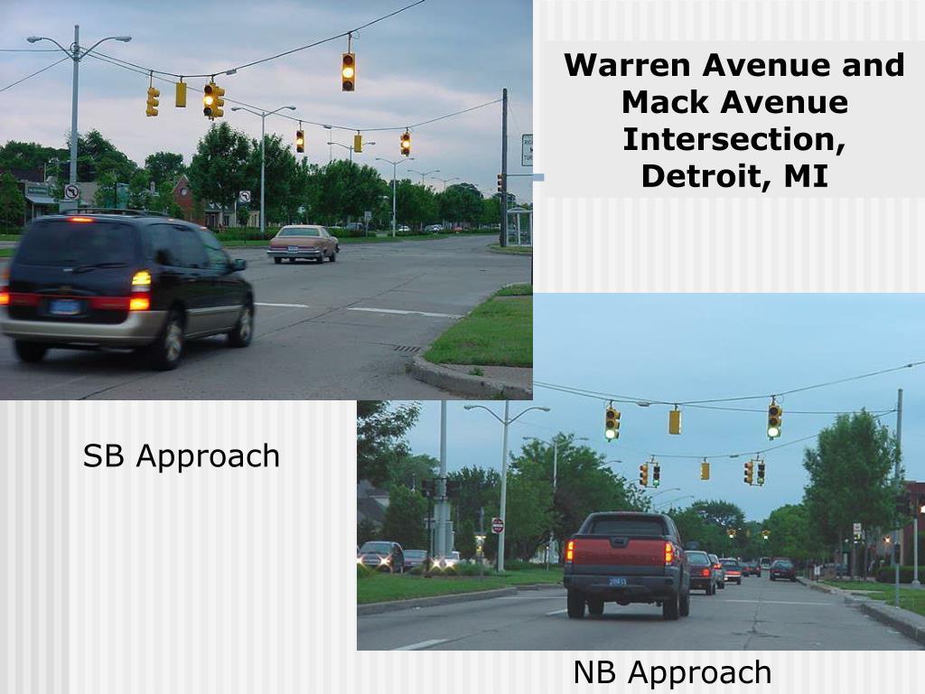 Warren Avenue and Mack Avenue Intersection,