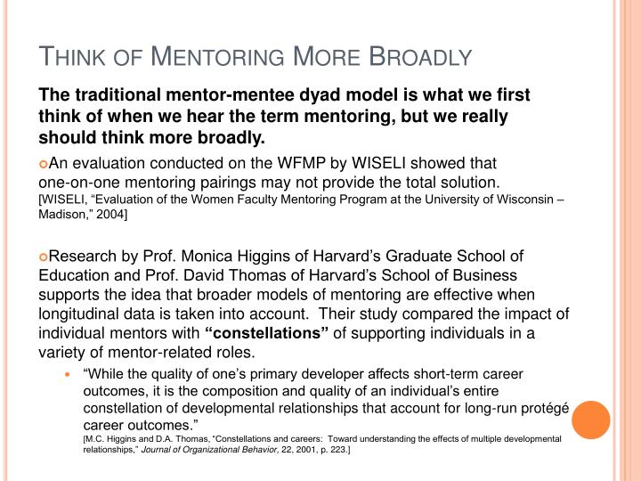 Think of Mentoring More Broadly
